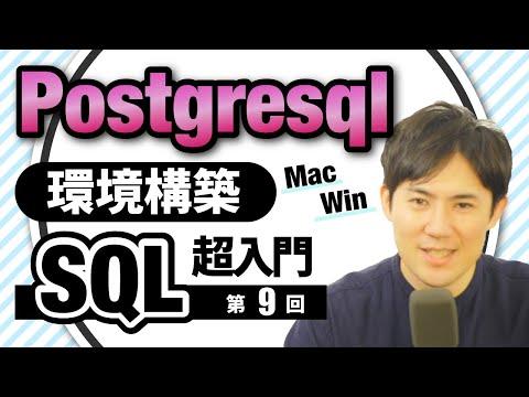 【SQL超入門講座】09.postgresqlの環境構築