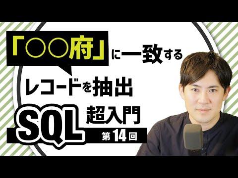【SQL超入門講座】14LIKE部分一致や前方一致、後方一致するレコードを抽出する方法