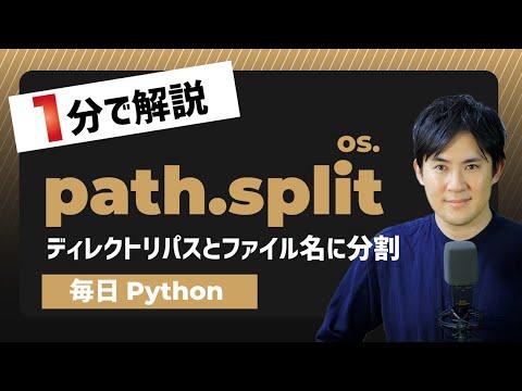 【毎日PytPythonでディレクトリパスとファイル名に分割os.path.split